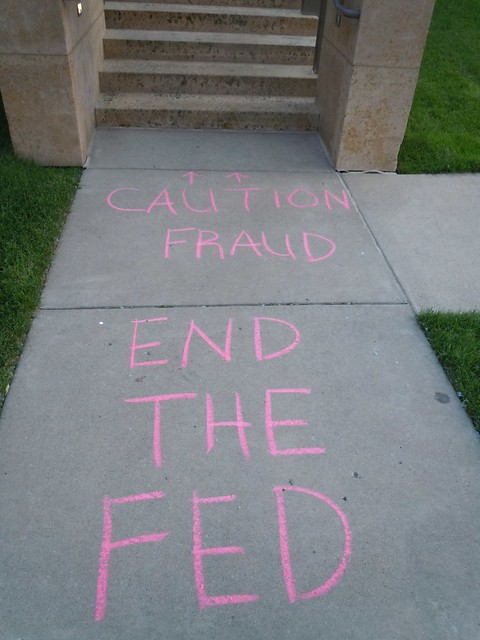 06-24-11 End The Fed Grafitti, Mpls, MN