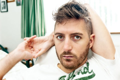 (Damien Cox) Tags: uk gay portrait selfportrait man male me self ego myself beard masculine tshirt moi homo homosexual queer scruff stubble esprit sigma30mmf14exdchsm i nikond40 damiencox snaptweet dcoxphotographycom