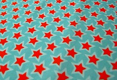 Project Selvage (nancykers) Tags: blue red stars fabric spoonflower projectselvage