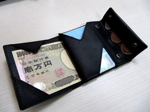 薄い財布をこんなふうに使い始めた