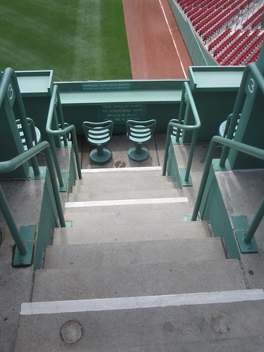 Visiting Fenway Park - Green Monster