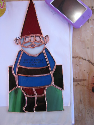 Gnome Stained Glass Foiled