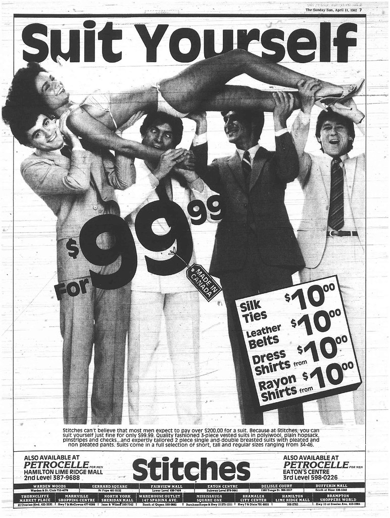 Retrospace Ads 41 Out Of Control Men S Clothing Store Ad