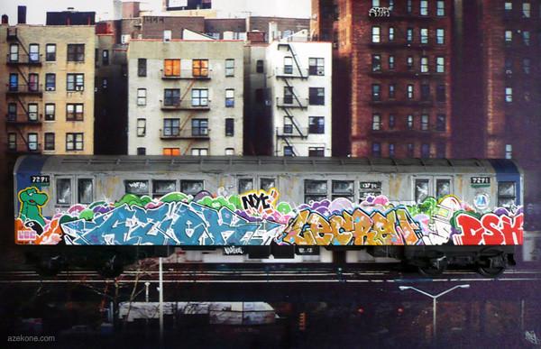 azek model subway nyc train