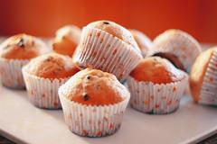 July Third. (redaleka) Tags: food orange white cakes cake dessert muffins cupcakes yummy sweet plate blueberry eat sweets tray bake blueberries baked chocolatechip julythird threehundredsixty