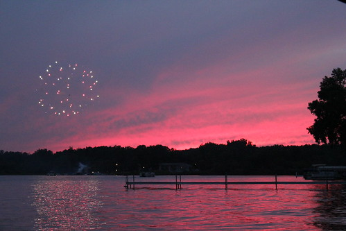 July 3, 2011 sunset + fireworks