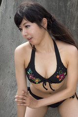 01650 (cosfit) Tags: ocean sea portrait people woman cute sexy beach girl beautiful beauty fashion japan lady asian japanese model asia pretty bikini swimsuit bathingsuit swimwear 20110703nisgp