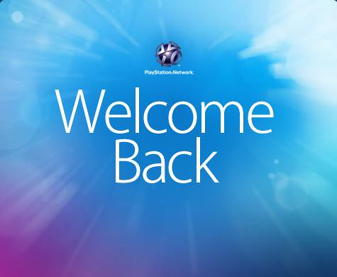 Sony PSN welcomeback