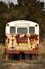 Joy Bus (Brianwithaneye) Tags: bus car rust automobile wheels rusty wrecked jalopy behing