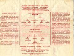 Daniels v Arsenal programme