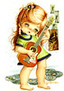 Vintage 70s postcard of a Big Eyed Girl by Gallarda (PrettyPostcards) Tags: girl vintage postcard 70s bigeyed gallarda