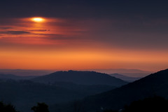 Blue Ridge Sunrise (jeffsmallwood) Tags: morning mountains clouds sunrise dawn glow pennsylvania valley blueridgesummit colormorning