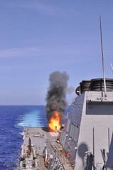 USS Lassen fires a vertically launched anti-submarine rocket during a combat systems exercise (Official U.S. Navy Imagery) Tags: navy pacificocean sailor usnavy arleighburke usslassenddg82 missiledestroyer verticallylaunchedantisubmarinerocket