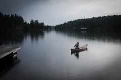 morning canoe launch (reboot) (Mr.  Mark) Tags: morning lake me nature rain fog outdoors photo dock calm canoe killarney dyniss markboucher kakakiwagonda