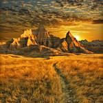 badlands sunrise - badlands national park, south dakota