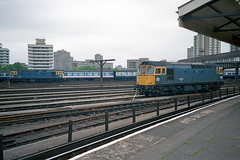 33002 (nearest) and 33021 stable at Clapham Junction. (jezdgould) Tags: london britishrail claphamjunction sulzer crompton class33 33021 33002 brcw d6501 d6539