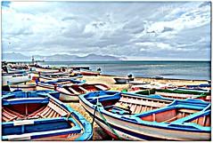 barche (eufrapi (il mio acronimo)) Tags: italy mare barche cielo sicily palermo barriere bagheria pescatori porticciolo aspra