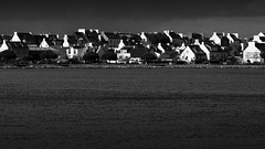 Low sun (Thomas Leth-Olsen) Tags: houses sea bw storm nature water architecture brittany graphic cloudy lowsun lorient