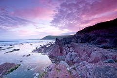 Manorbier Sunset (angeladj1) Tags: sunset pembrokeshire manorbier