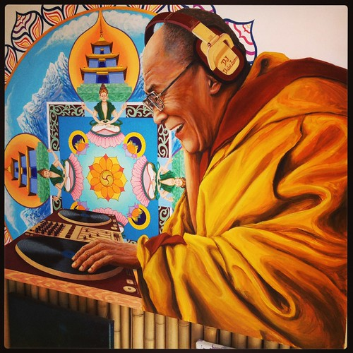 "Dj Dalai Lama by Arotin Hartounian, on show at the Branches Mobile Gallery at Lucidity • <a style=""font-size:0.8em;"" href=""http://www.flickr.com/photos/13623660@N03/14173536138/"" target=""_blank"">View on Flickr</a>"