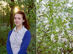 me (Dasha Lapshina) Tags: flowers sunset nature floral girl botanical russia bokeh moscow april cherrytree 2014