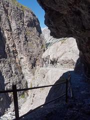Deep shadow in the Uina Gorge (Jon Sketchley) Tags: switzerland schweiz engadine engadin uina gorge cliff ravine