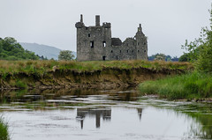Memories of the past... (Lena and Igor) Tags: europe greatbritain ruins kilchurn castle lochawe argyll bute scotland uk architecture landscape water stream reflection scenic dslr nikon d7000 nikonflickraward