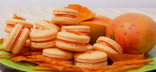 Mango Macarons 4