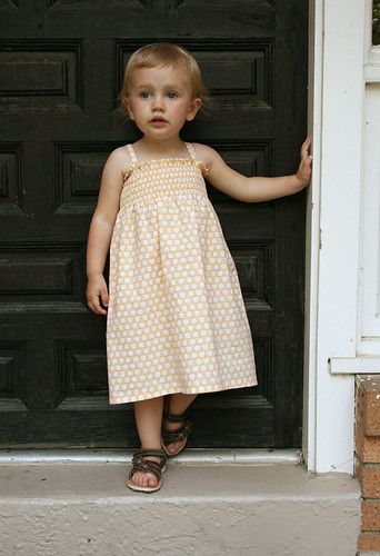 shirred yellow sundress 2