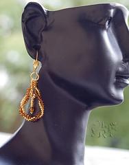 Серьги к вязаному жгуту by olia_ri