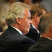 GE CEO Jeffrey Immelt takes notes as he listens to Duke Energy CEO Jim Rogers.