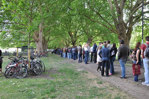 Queueing for Cambridge Beer Festival