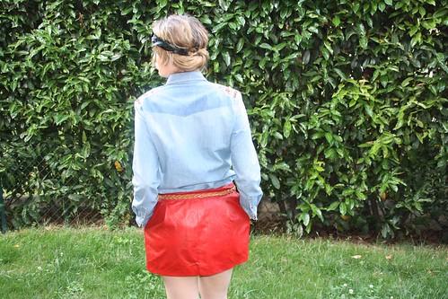 chemise en jean sandro dos