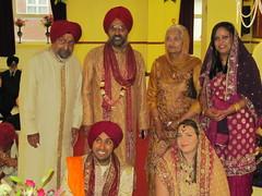 Grandad, Surinder, Beejee, Manjit, Pav & Emily