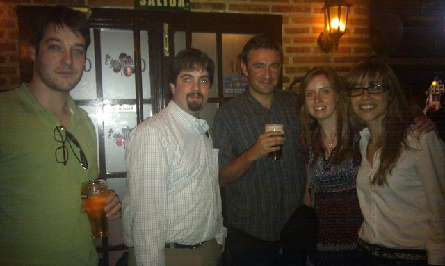 @rustybrick at Madrid after the SEO Workhop at ISDI with the SEO Team (T2O media)