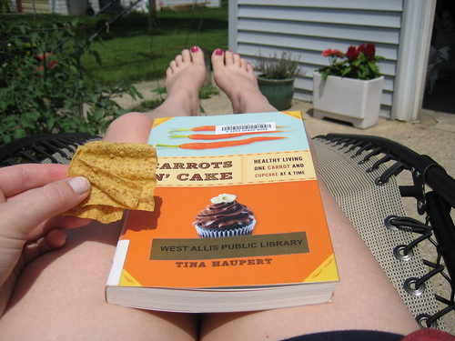 sun chips, Carrots 'N' cake book, sunning