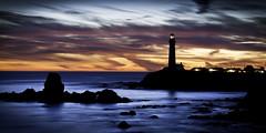 Pigeon Point Lighthouse..a new era (Nicholas Steinberg photography) Tags: ocean travel sunset vacation sky lighthouse seascape northerncalifornia hostel nikon dramatic sfbayarea californiacoast hw1 pigeonpointlighthouse nikon70300vr