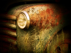 Resting In The Tall Grass (Dave Linscheid) Tags: old usa texture minnesota truck rust antique decay farm agriculture watonwancounty niksilverefexpro topazadjust4 blinkagain