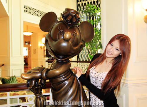 me and minnie in disney hotel