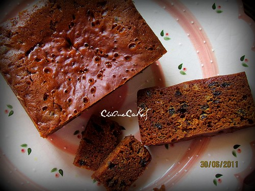 "steamed fruitcake 6""x6"" (800g)"