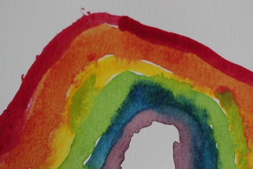 a painted rainbow