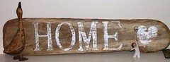 Home sign (Beachcombers Crafts) Tags: love beach home sign anniversary driftwood retreat valentines welcome