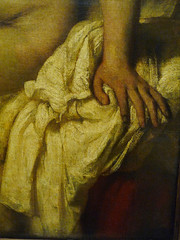 Rembrandt, Bathsheba at Her Bath with detail of left hand