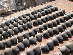Clay Bottles (manonthestreetdotcom) Tags: nepal asia kathmandu manonthestreet