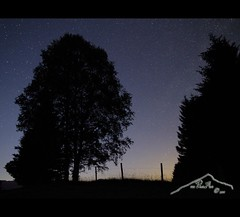 ~ back to the stars ~ (mcPhotoArts) Tags: longexposure trees light summer nature silhouette fence germany stars landscape bayern deutschland bavaria licht countryside nightshot nacht sommer hill natur zaun bume nachtaufnahme sterne langzeitbelichtung mittenwald hgel sternenhimmel schmalensee sigma1770mm2845dcmacro buckelwiesen canoneos550d mcphotoarts2011 gapaland ffgapashow