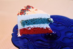 red white and blue cake (meow alix) Tags: blue red white cake vegan patriotic multicolor
