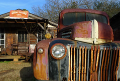 How things should be (steverichard) Tags: old usa ford abandoned sign metal barn rural america truck vintage georgia rust decay pickup f150 grill oxidation vehicle rusting headlight shack grille backroad junker rustyandcrusty offtheinterstate royalcola steverichard
