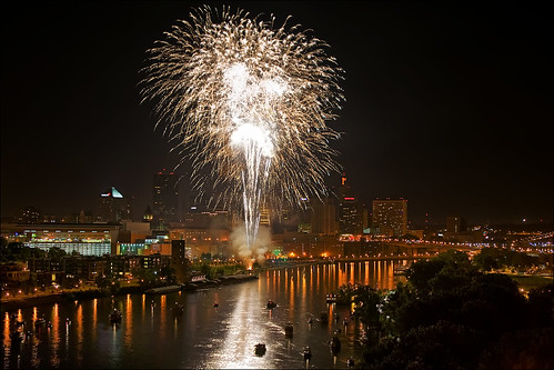fireworks over st. paul minnesota july 4th
