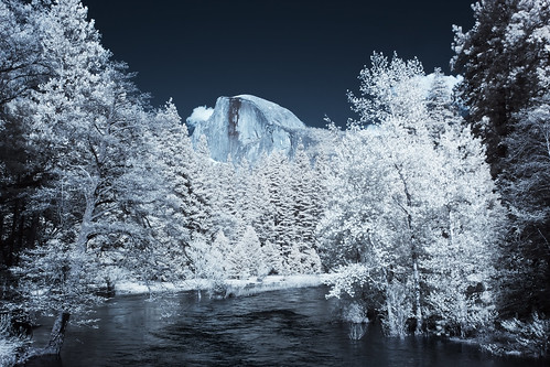Half Dome and Merced River - Infrared
