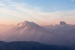 Savoie - Vercors (Gwennolé) Tags: mountain snow montagne soleil hiver savoie vercors lever coldelarzelier